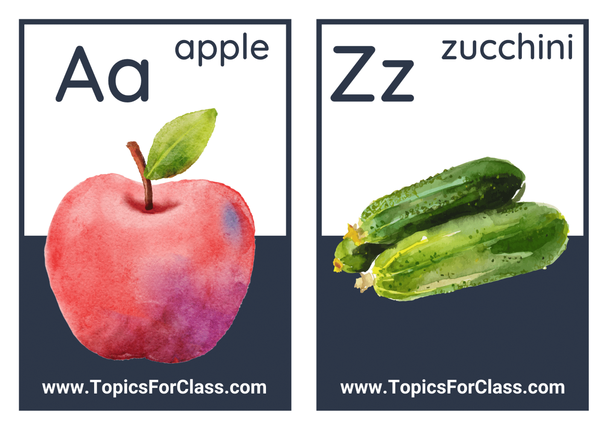 Alphabet Flashcards For Adult Learners