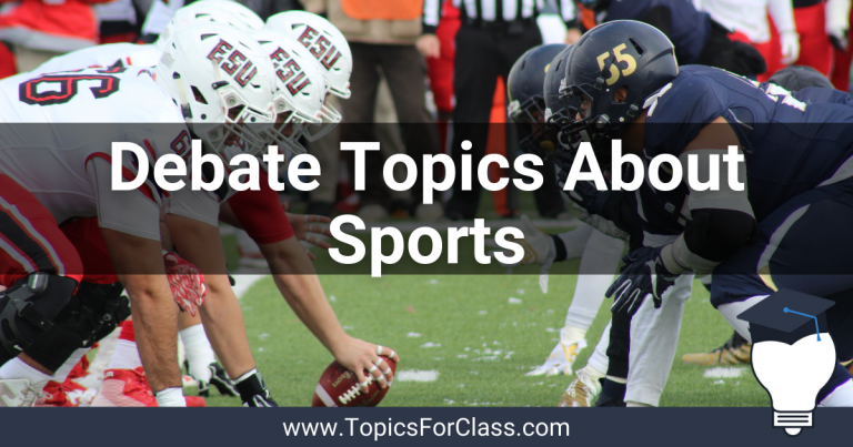 20 Debate Topics About Sports
