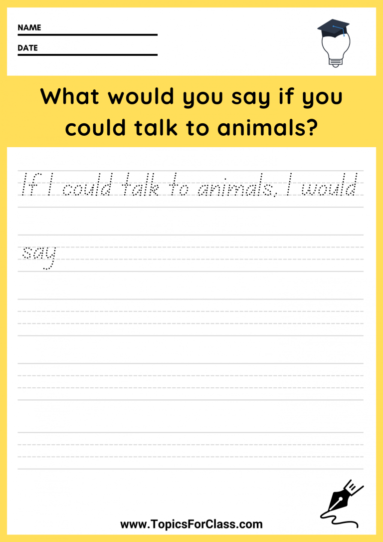 Free Writing Prompt Worksheets For First Grade