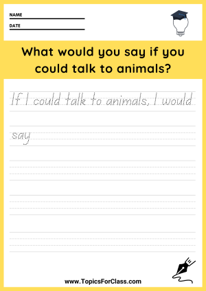 First Grade Writing Prompt Worksheets