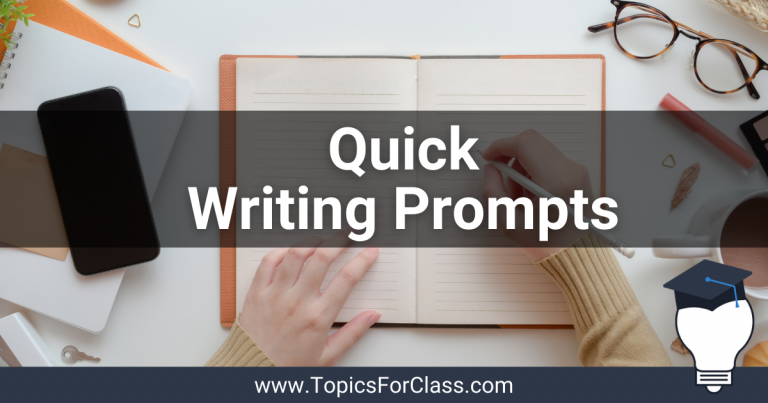 20 Quick Writing Prompts